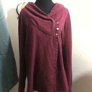 Danskin Long sleeve sweater wrap top. XXL